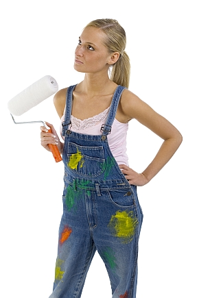 Girl Home Painter